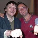 Der Stargeiger Nigel Kennedy und Elmar Leimgruber