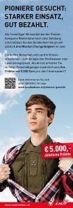 Werbung für Pioniere beim Bundesheer: http://www.bundesheer.at/miliz/formular_pikp.php